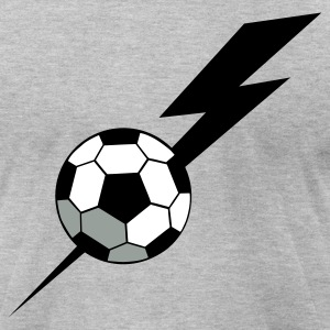 Heather grey SOCCER BALL world cup with a LIGHTNING BOLT T-Shirts - Men's T-Shirt by American Apparel