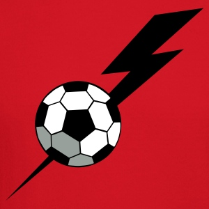 Red SOCCER BALL world cup with a LIGHTNING BOLT Long Sleeve Shirts - Crewneck Sweatshirt