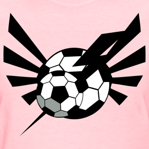 Pink SOCCER BALL world cup with an awesome blaze ! Women's T-Shirts - Women's T-Shirt