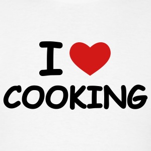 White I Love Cooking T-Shirts - Men's T-Shirt