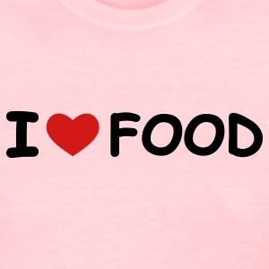 Pink I Love Food Women's T-Shirts - Women's T-Shirt