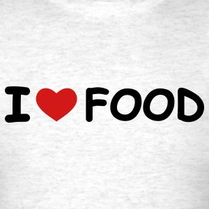 Light oxford I Love Food T-Shirts - Men's T-Shirt