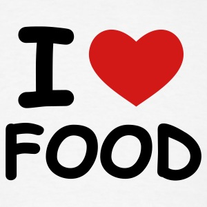 White I Love Food T-Shirts - Men's T-Shirt