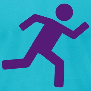 Turquoise Runner - running T-Shirts - Men's T-Shirt by American Apparel