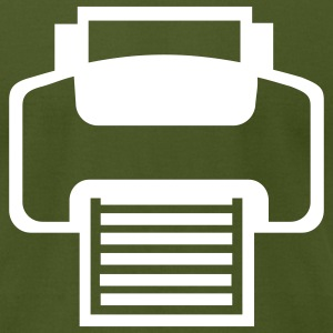 Olive Printer - Computer T-Shirts - Men's T-Shirt by American Apparel