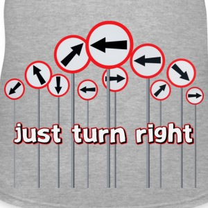 Turn Right - Women's V-Neck T-Shirt