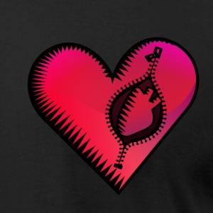 Black heart in heart (DDP) T-Shirts - Men's T-Shirt by American Apparel