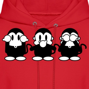 Red 3 Monkeys Hoodies - Men's Hoodie