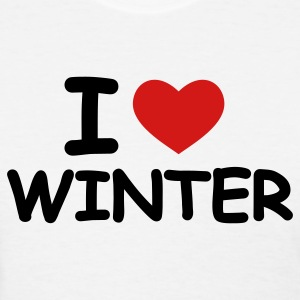 White I Love Winter Women's T-Shirts - Women's T-Shirt