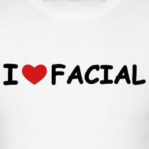 White I Love Facial T-Shirts - Men's T-Shirt