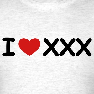 Light oxford I Love XXX T-Shirts - Men's T-Shirt