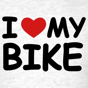 Light oxford I Love My Bike T-Shirts - Men's T-Shirt