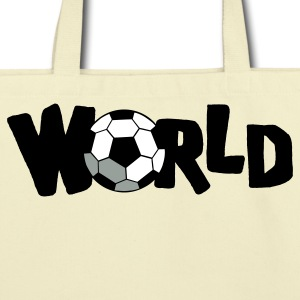 Creme WORLD CUP SOCCER BALL Bags  - Eco-Friendly Cotton Tote