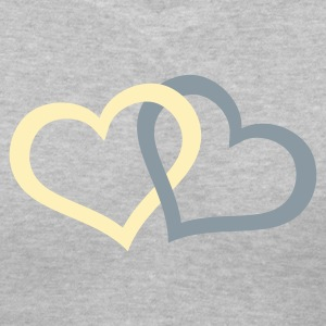 Two interlocking hearts - Women's V-Neck T-Shirt