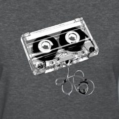 Deep heather cassette_tape_exposed Women's T-Shirts