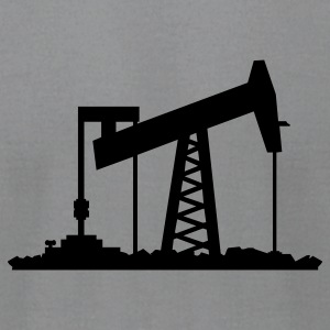 Slate oil rig (1c) T-Shirts - Men's T-Shirt by American Apparel