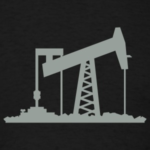 Black oil rig (1c) T-Shirts - Men's T-Shirt