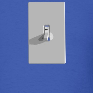 Royal blue off_switch T-Shirts - Men's T-Shirt