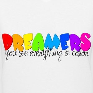 Dreamers - Women's V-Neck T-Shirt