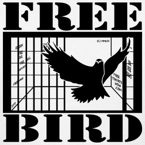 White FREE BIRD! Women's T-Shirts - Women's T-Shirt