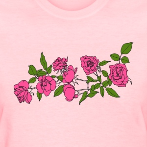 Roses (Pink/Green) - Women's T-Shirt