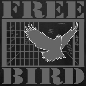 Black FREE BIRD! T-Shirts - Men's T-Shirt by American Apparel