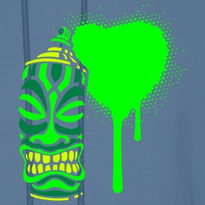 Green PRAY A HEART TIKI Graffiti (neg) Hoodies - Men's Hoodie