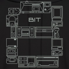 Black 8-Bit-Consoles Hoodies