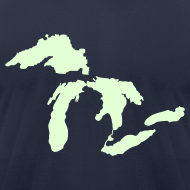 Design ~ Just Michigan Glow in the Dark Men's American Apparel Tee
