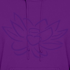 Light pink Lotus heart Hoodies