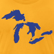 Design ~ Just Michigan Men's American Apparel Tee (not glow in dark)