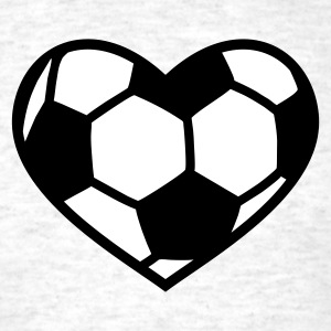 Light oxford Soccer Love T-Shirts - Men's T-Shirt