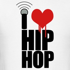 White I Love Hip Hop T-Shirts