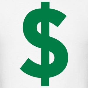 White Dollar Sign T-Shirts - Men's T-Shirt