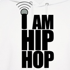 White I Am Hip Hop Hoodies