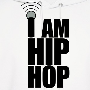 White I Am Hip Hop Hoodies - Men's Hoodie