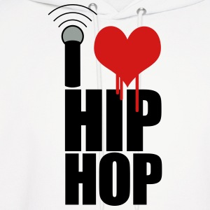 White I Love Hip Hop Hoodies - Men's Hoodie
