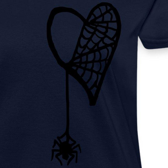 Cobweb Heart Lady's Tee