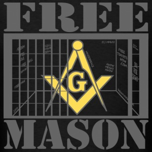 Black FREE MASON! T-Shirts - Men's T-Shirt