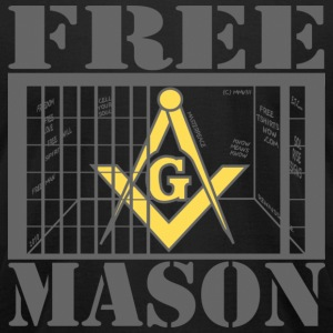 Black FREE MASON! T-Shirts - Men's T-Shirt by American Apparel