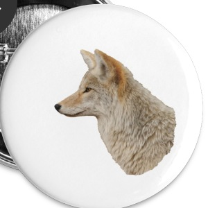 Coyote Portrait - Large Buttons