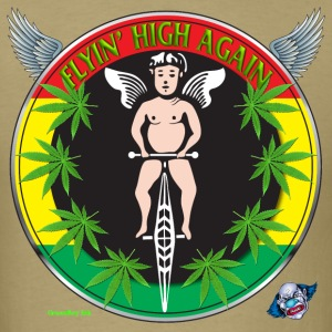 Marijuana T Shirt Flyin' High Again - Men's T-Shirt