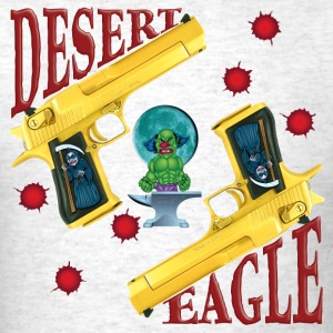 Evil Clown T Shirt Golden Desert Eagle - Men's T-Shirt