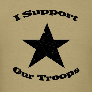 Khaki support our troops T-Shirts - Men's T-Shirt