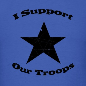 Royal blue support our troops T-Shirts - Men's T-Shirt