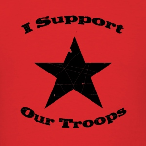 Military support t shirts spreadshirt for Red support our troops shirts