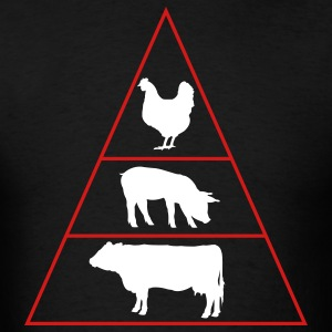 Meat Pyramid - Men's T-Shirt
