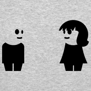 Heather grey goth couple (1c) Long Sleeve Shirts - Crewneck Sweatshirt