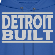 Design ~ Detroit Clothing Built Men's Hoody Sweatshirt
