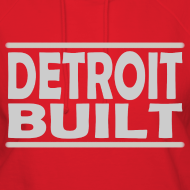 Design ~ Detroit Clothing Built Women's Hooded Sweatshirt